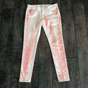 Levi's 535 Legging Skinny Jeans Blush Tie-Dye